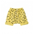 bow print slouch shorts - yellow