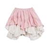 Layered eyelet frilled skirt front