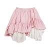 Layered eyelet frilled skirt back