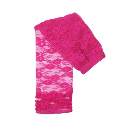 fuchsia lace capri leggings/tights