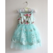 blue lace tutu dress