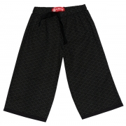 crop pants - black waves