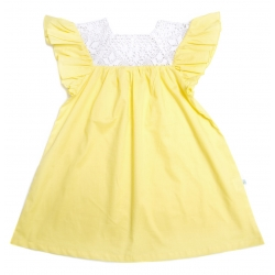 butterfly dress - yellow