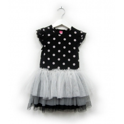 nice dress black dots