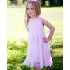 summer dress pink white dots