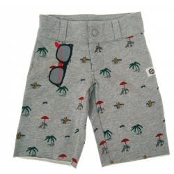 beach shorts with sun shades graphic model