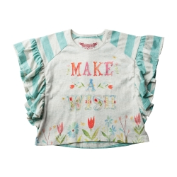 'Make a wish' frilled tee