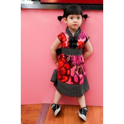 party dress - pink red